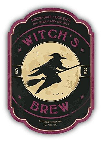 Halloween Potion Witch Brew Vintage Hochwertigen Auto-Autoaufkleber 8 x 12 cm
