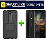 #9: SmartLike COMBO OFFER For Nokia 6.1 (2018) (SmartLike Armor Defender Hybrid Bumper Back Cover + 1 SmartLike Premium Quality Tempered Glass for Nokia 6.1 (2018)