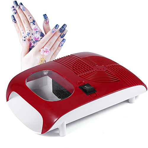 Soplador de secador de esmalte de uñas de aire caliente / frío con ventilador Herramientas de manicura...