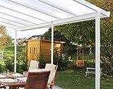 Gutta Terrassenüberdachung Aluminium, weiß, Typ E, 4260 mm breit, 4060 mm tief