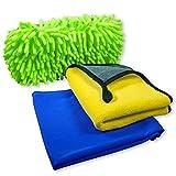 cosey - dreiteiliges Mikrofaser Putz und Reinigungsset