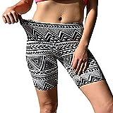 Jaminy Damen Sommer Strand Kurze Hosen Trainieren Yoga Kurze Hose Hot Pants Sporthose Damen Kurze Hosen Trainieren Fitness Laufhose Elastisch Bund Sport Shorts (Grau, XL)