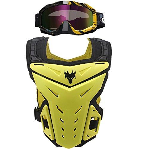 POSSBAY Brustpanzer Ruecken Schutz Sportbrille Motorrad Brille Off Road Motorcross Ski Skating