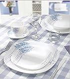 30 Teile Tafelservice Geschirr Set Service Tellerset Teller Opal Glas Opalglas LN11-7