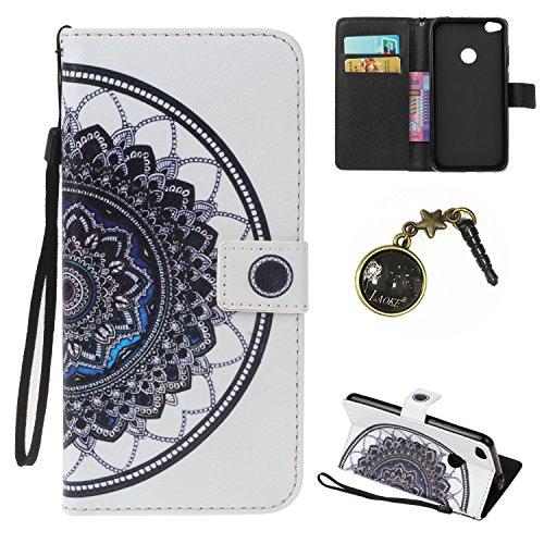 Preisvergleich Produktbild PU für Huawei Nova Lite Hülle case vintage ledertasche, Handy Schutzhülle fürHuawei Nova Lite) Hülle Leder Wallet Tasche Flip Brieftasche Etui Schale (+Staubstecker) (8)