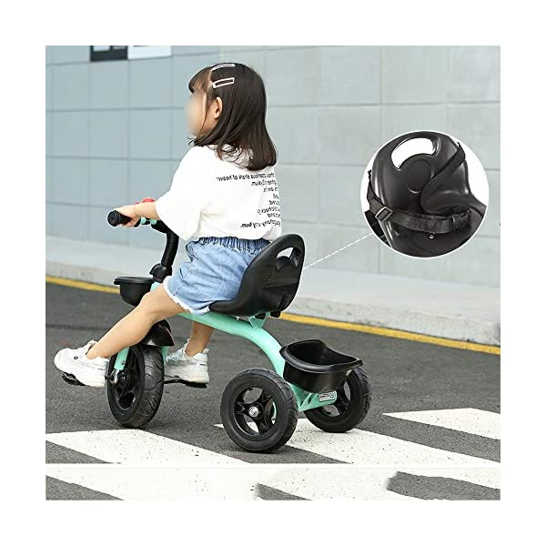 LRHD Children's Tricycle, Children's Tricycle, Stroller, Tricycle, Tricycle Pedal Bicycle, Boys and Girls Aged 2-3-4-5 Years Old, Indoor and Outdoor, with Storage Boxes, Boys and Girls Riding Toys LRHD 1. [Perfect Growth Partner]: Tricycle is suitable for children aged 2-6. Let this tricycle grow up with your children. 2. [Adjustable Seat]: The tricycle seat can be adjusted in front and rear gears, so the baby does not need to change cars when growing up, and it is suitable for children of different height stages. 3. [Humanized Design] These cleverly designed tricycles and tricycles have many features your children will like! With one basket at the front and one basket at the back, your children can take their favorite toys along the way! 8