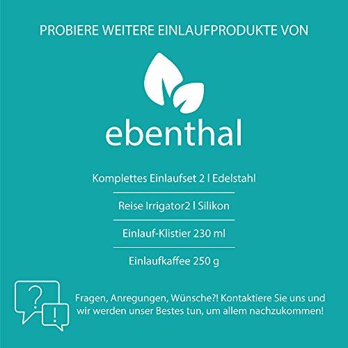 Premium Ersatzschlauch für Darmeinlauf-Sets 2m EBENTHAL VITAL® • Silikonschlauch passend für viele Irrigatoren und Klistier-Sets zur Darmreinigung • BPA-frei