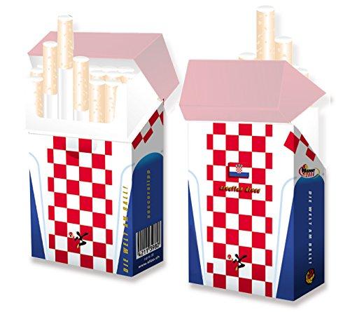 """Kroatien Trikot als coole Zigarettenschachtel-Hülle - \""""indo slipp\"""" Design Kroatien Dress - soccer-edition (3 Stück)"""