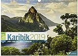 Karibik ReiseLust 2019, Wandkalender im Querformat (45x33 cm) - Reisekalender Kuba, Dominikanische Republik, Bahamas mit Monatskalendarium -