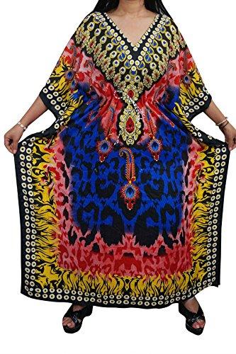Indiatrendzs Women Boho Kaftans Viscose Bohemian Kimono Style Kaftan Dress Chest
