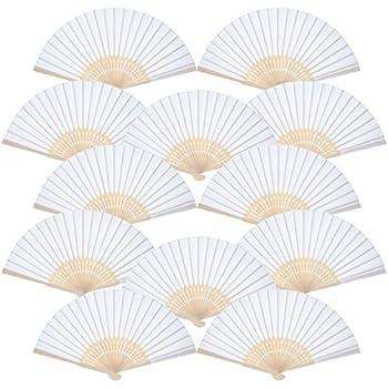 Henbrandt Lot de 12 éventails en papier motif chinois
