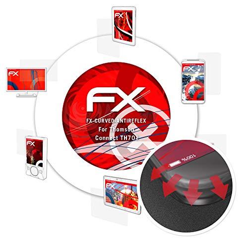 atFolix Schutzfolie passend für Thomson Connect TH701 Folie, entspiegelnde & Flexible FX Bildschirmschutzfolie (3X)