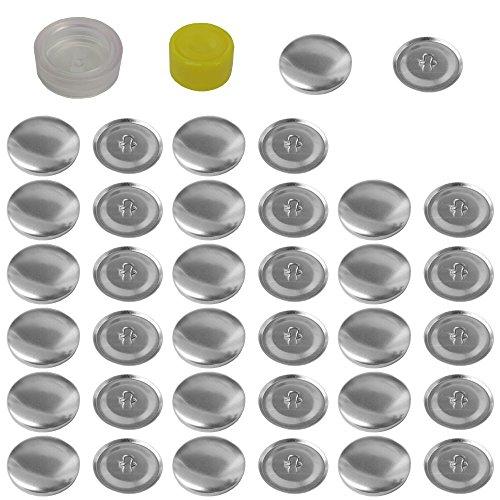 Mehrondo 18 Stück Überziehbare Knöpfe 22mm Durchmesser mit Druckverschluss
