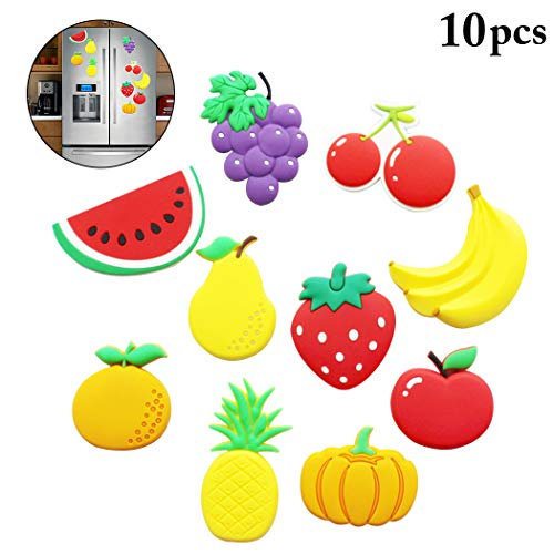 Joyibay 10 STÜCKE Kinder Obst Magnet Kreative Karikatur Kühlschrank Magnet für Kleinkind (Baby-magneten Kühlschrank)