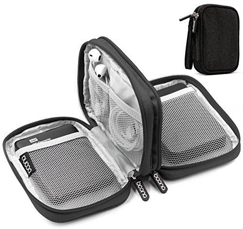 Baona Oxford Dual Double Layer Festplatte 2,5 Zoll Gehäuse, Festplattentasche Stoßfeste Tragetasche (schwarz)