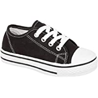 GladRags Boys Girls Kids Lace Up Canvas Low Top Size Infant 6 7 8 9 10 11 12 13 Youth 1 2 3 4 5 6