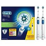 Oral-B Pro 690 Elektrische Zahnbürste, mit zwei CrossAction Aufsteckbürsten, Bonus Pack mit 2 Handstücken, weiß
