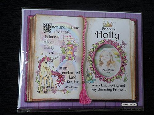 Geschenk für Holly Prinzessin Einhorn rosa Halterung mit spezieller Vers und Auswahl der Bilderrahmen