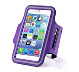 N+ INDIA Motorola Moto G4 Plus Fancy Sports Armband, Black Gym,Running, Jogging,Walking,Hiking,Workout and Exercise Armband Holder For Moto G4 Pluswith Extra Adjustable-Length Extension Band Purple