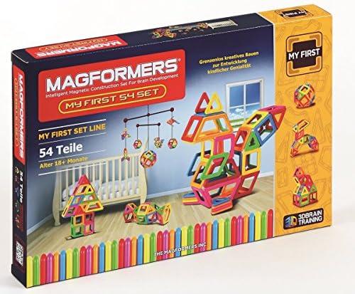 Magformers - - 2042619 - Magformers Jeu De Construction - My First U3 - 54 Pièces - version import B00LUVE3K6 b35464