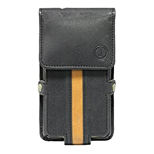 Jo Jo A6 Nillofer Series Leather Pouch Holster Case For Lava B5 Qwerty Black Tan