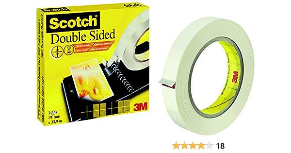 Scotch Double Sided Sticky Tape 19 Mm X 33 M Core 76 Mm 1 Roll Bürobedarf Schreibwaren