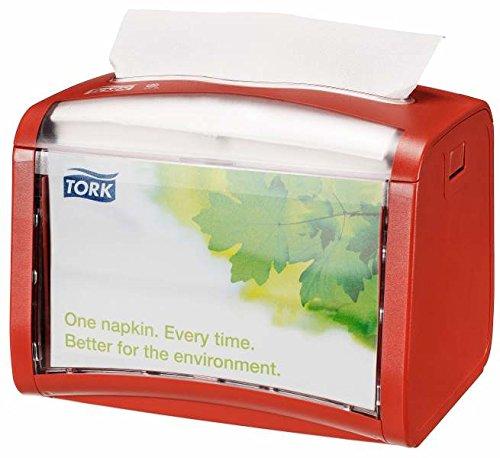 Tork 272612 Xpressnap Tischspender für N4 Spenderservietten/Serviettenspender in Rot