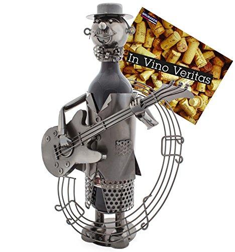 enhalter Gitarrist Metall Skulptur mit Geschenkkarte ()