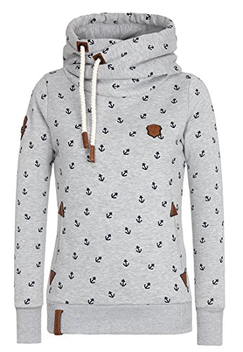 Naketano Female Hoody Guts over Fear III Grey Melange I, L