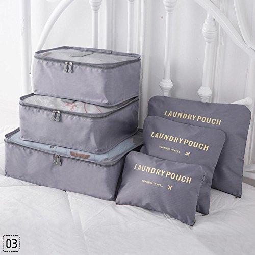 Teabelle 6 bolsas de almacenamiento para ropa interior de viaje, organ