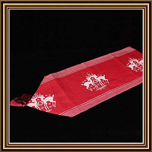Tessuto Jacquard, ornamenti Natale regali di natale del singolo strato coperta cashmere tabella Jacquard runner TR33 33*180cm , 4 Decorazioni di Natale Halloween-YU&XIN - Orso Regalo Ornamento