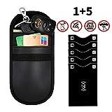 ODLICNO 1 x Keyless Go Schutz Autoschlüssel + 5 x RFID Blocker Schutzhüllen für Kreditkarten Fob Faraday Signal Blocker Tasche RFID/NFC/WiFi/GSM/LTE Zum Funkschlüssel abschirmen und Datenschutz