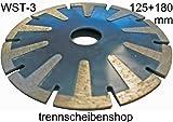 Im Trennscheibenshop Schleiftopf 1x, WST-3_Ø 125 x 8,0 mm, Schleifteller, Kurvenschneider, Fliesen Granit