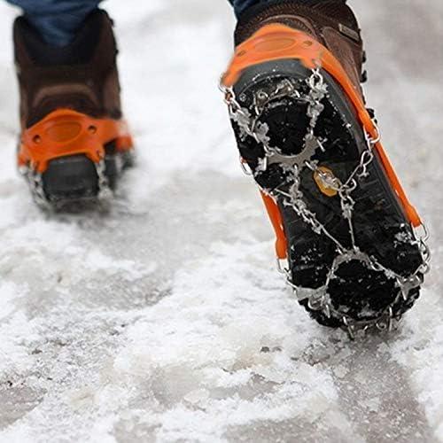 Fenghezhanouzhou Fenghezhanouzhou Fenghezhanouzhou Antiscivolo Ice Gripper Escursionismo Arrampicata Catena Scarpe Copre 19 Denti Una Coppia (Coloreee   Arancia) B07NW3ZWWM Parent | I Clienti Prima  | Special Compro  81040a