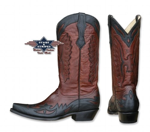 Stars & Stripes Westernboots WB-20, Farbe: rot, Gr. DE 42 / US 9.0 / UK 8.0