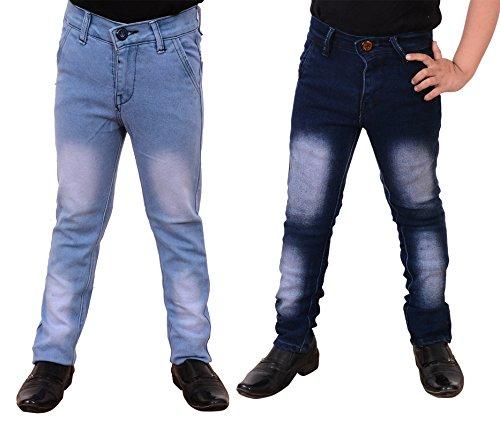 Guchu Boys Jeans Combo, Pack of 2(A5-IB-DB-B-38)