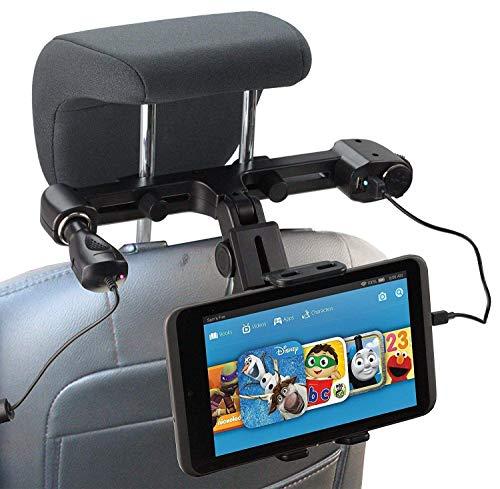 """Navitech USB-Anschluss 4.2A Kopfstützenhalterung Mit Integriertem KFZ-Ladegerät Kompatibel mit dem ACEPAD A121 10.1\"""" Tablet"""