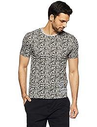 LP Jeans By Louis Philippe Men's Solid Slim Fit T-Shirt - B078HVJHQX