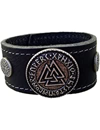Leder Armband Odin Amulette Neu Armschmuck NEU Wikinger Größe 17-bis20,5 cm