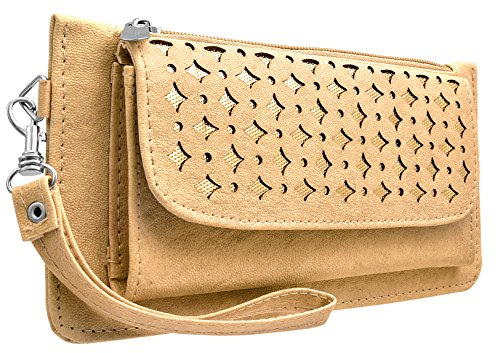 Tap Fashion Fancy Stylish Elegance Fashion Synthetic Cream Handmade Wallet/ Clutch/ Purse for Girls and Women.  available at amazon for Rs.298