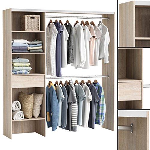 habeig Kleiderschrank AKAZIE 3003 offen BEGEHBAR Regal Kleiderständer Schrank Garderobe