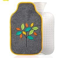 YUN Gefüllte Wasser Blatt Design Jacke PVC Wärmflasche Warmwasser Tasche 2L preisvergleich bei billige-tabletten.eu