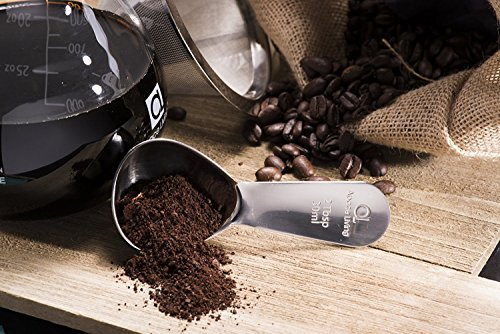 Apace Living Pour Over Coffee Maker Set w/Coffee Scoop and Cork Lid – Elegant Coffee Dripper Pot w/Glass Carafe & Permanent Stainless Steel Filter (1200 ML)
