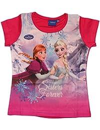 244189d07 Frozen - Die Eiskönigin - Camiseta de Manga Corta - para Niña Rosa 128