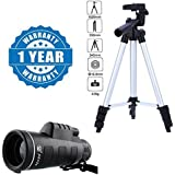 Drumstone Super Light Universal Travel 3110 Portable & Foldable Camera Mobile Tripod With Panda Traveling 18X62 Portable Monocular Telescope Compatible With Xiaomi, Lenovo, Apple, Samsung, Sony, Oppo, Gionee, Vivo Smartphones (One Year Warranty)