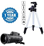 #4: Drumstone Super Light Universal Travel 3110 Portable & Foldable Camera Mobile Tripod with Panda Traveling 18X62 Portable Monocular Telescope Compatible with Xiaomi, Lenovo, Apple, Samsung, Sony, Oppo, Gionee, Vivo Smartphones (One Year Warranty)