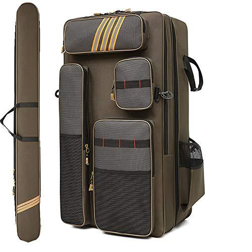 LXMBox Fischereiausrüstungstasche, Angeltasche, Multifunktionsaufbewahrungstasche, Angelstuhl-Tasche, zweilagige Abriebfeste wasserdichte Tasche,80cm-B