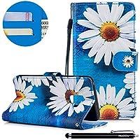 HUDDU Bunt Muster Handyhülle Samsung Galaxy A8 2018 Leder Hülle Flip Wallet Case Ledertasche im Bookstyle mit... preisvergleich bei billige-tabletten.eu