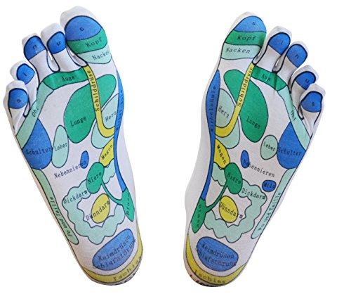 Fußreflexzonenmassage Manuelle (Reflexzonen-Socken, 1 Paar - für die einfache Fußreflexzonenmassage zuhause, Fußreflexzonenmassage, Massagesocken, Reflexologie)