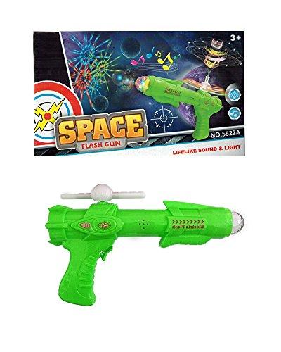 Pistola giocattolo per bambini con luci e suoni space gun - Pistola spaziale - KAMIUSTORE (VERDE)